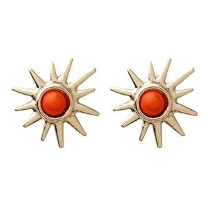 Ladies Gold & Orange Sun Stud Earrings | Chici Fashion Jewellery