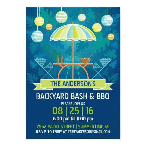 Summer Night Patio Party Invitation