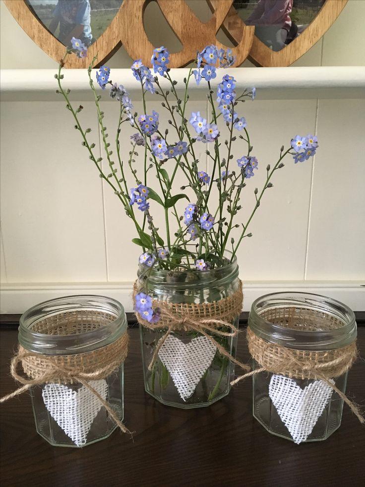 Burlap jars