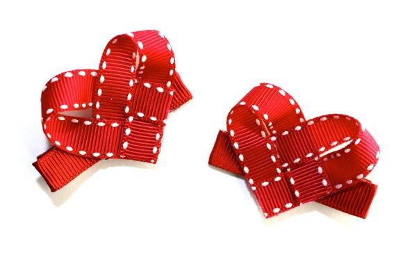 Valentine clippies - I already have this ribbon!