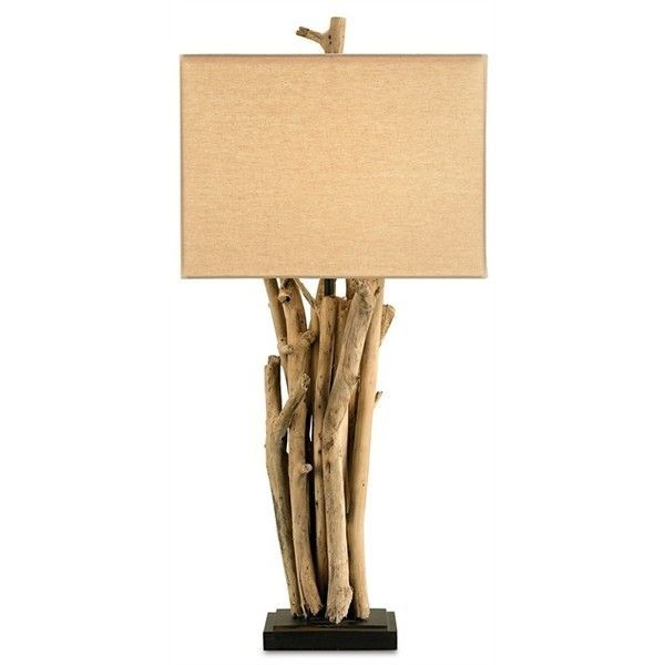 Driftwood Table Lamp | Currey And Company ❤ Liked On Polyvore Featuring  Home, Lighting,