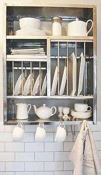 Middle Stainless Steel Plate Rack   theplaterack.co.uk   Vintage Industrial Accessories   Warehouse Home Design Magazine