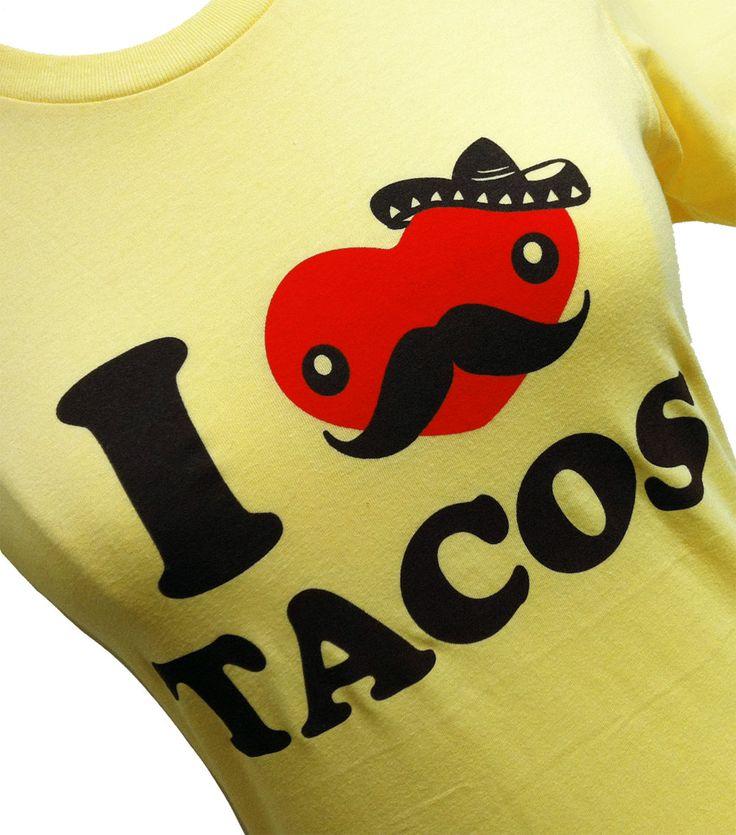 TACO TShirt I Love Tacos FUNNY Ladies Shirt by theboldbanana