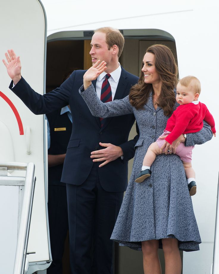And they're off! It was a long tour, but we think they pulled it off magnificently. Major plus along the way: little baby George. via StyleList