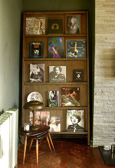 Homes: Art Deco: Books in of Jamie Carless and Andrea Webster's art deco house