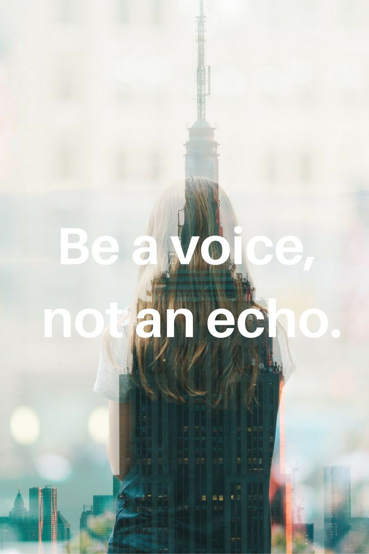 Be a voice, not an echo. #s #todaysquote #inspiration #motivation #zipstrr #trendsettrr #madeinberlin #fromhollywood #infilmunited #monday #mondayquote