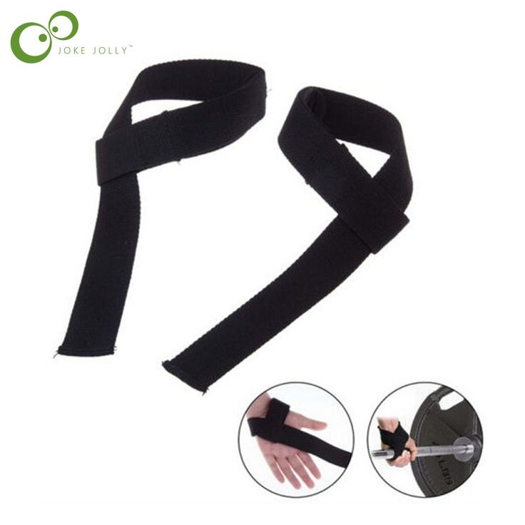 2 pcs Men Leather Padded Gym Weight Lifting Straps Crossfit Wrist Support Wraps Hand Bar Bodybuilding Strength Power Training Y4