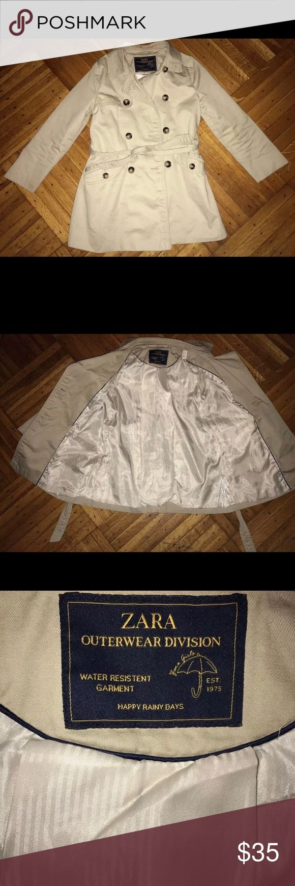 Zara Girls Trench Coat Size 7yrs! Zara Girls Trench Coat Size 7. Beige color. WATER RESISTANT ! It's exactly as seen in the photos I've provided. Great Condition! Zara Jackets & Coats