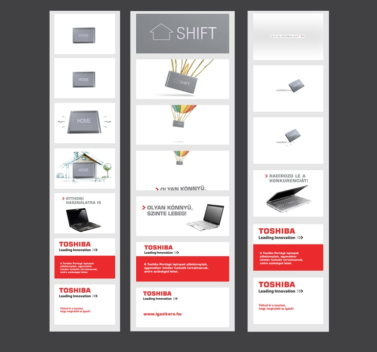 Toshiba notebook banners