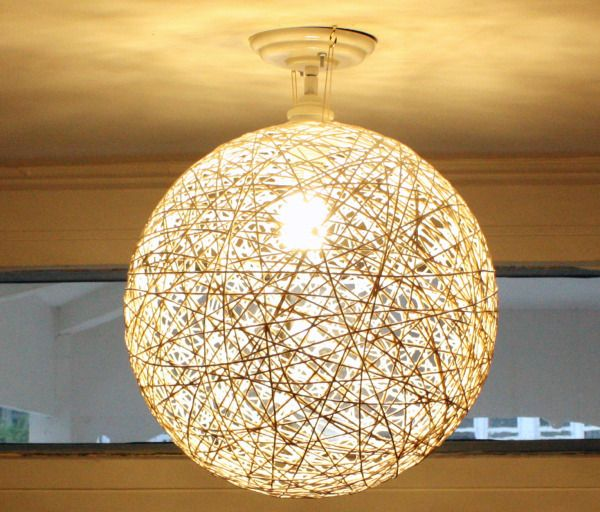 Unique String Lanterns Ideas On Pinterest String Balloons - Diy cloud like yarn lampshade