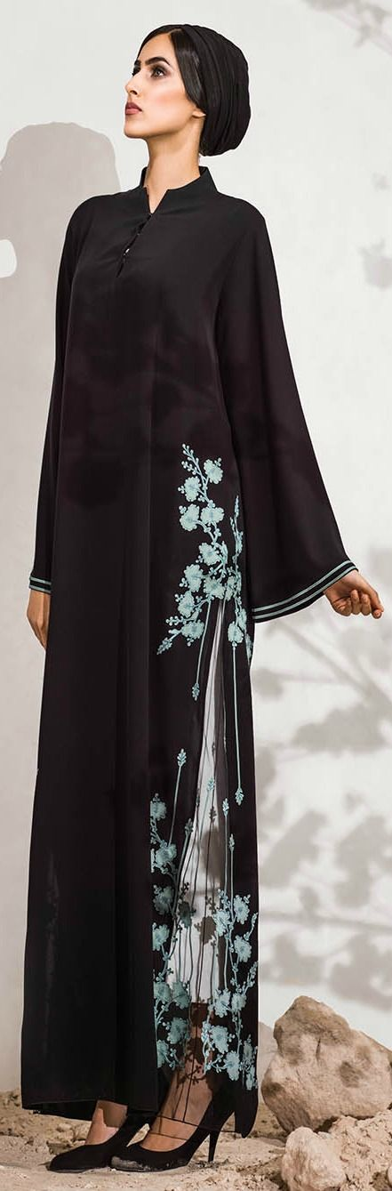 Mauzan abaya Dubai..Laser cut designs and Applique Design Array