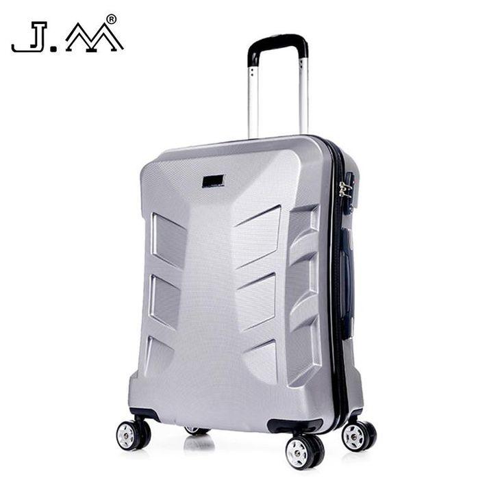 J.M 100%PC Suitcase Traveling Universal Wheel Handbagage Travel House Trolley Cabin Luggage Maleta De Ruedas Wheelgood