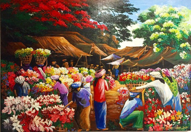 Stunning hand painted art