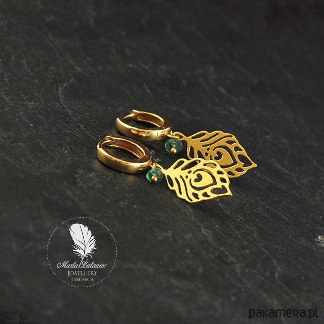 kolczyki - minerały-Golden morn