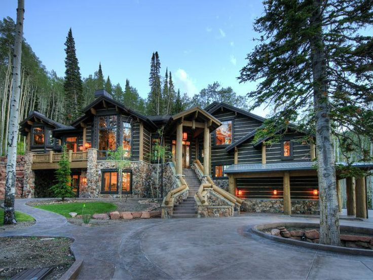 25 best images about log homes on pinterest luxury log for Luxury log cabin builders