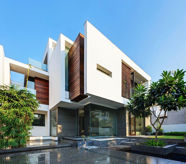located in new delhi india the overhang house designed by dada partners is a beautiful construction with simple and fine lines that satisfies the c - Architecture Design For Home In Delhi