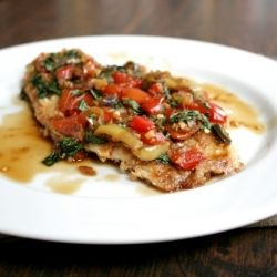 A recreation of one of my favorite restaurant dishes - crispy fried tilapia topped with a spicy Thai basil sauce.