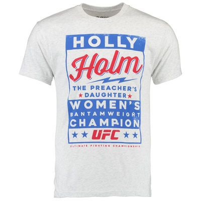 Holly Holm UFC Poster Tee - Gray