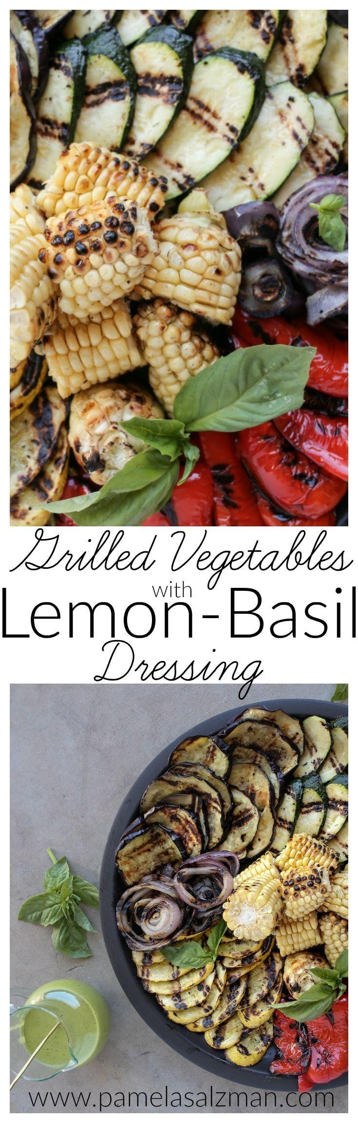 Grilled Vegetables with Lemon-Basil Dressing   Pamela Salzman