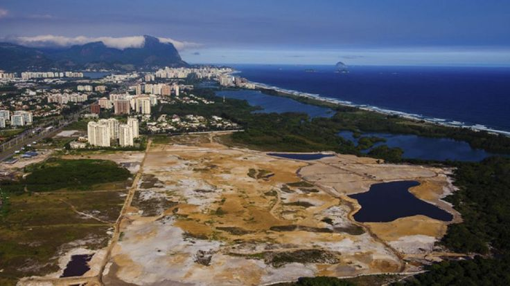 Jun 2014: An aerial view of the site of the Olympic golf course taken on Nov. 9, 2013, the 1,000th day before the Rio 2016 Olympic Games. Work on the golf course has fallen behind schedule. Golf prepares to return to the Olympics after a 112-year absence. Rio organizers confirmed that a state prosecutor could halt work on the course unless the developer shows it is following environmental regulations and other requirements under Brazilian law.