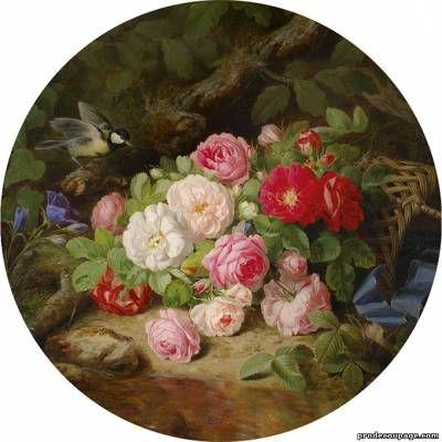 Цветы - круглые картинки для декупажа - автор Приколотина Людмила