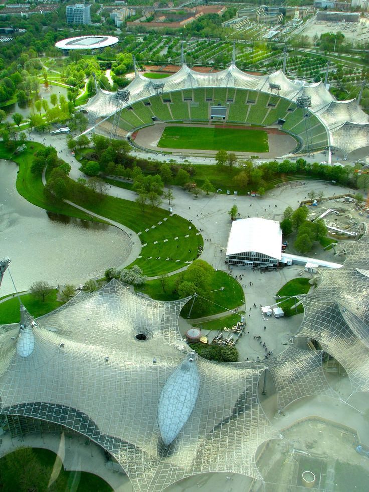 Olympiapark / Munich Olympic Stadium, München, Germany.  Repinned by www.mygrowingtraditions.com