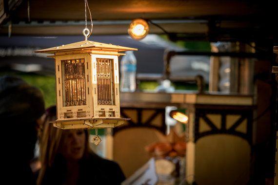 Bird Feeder Craftsman Prairie Style Wooden 3D by 1Man1Garage