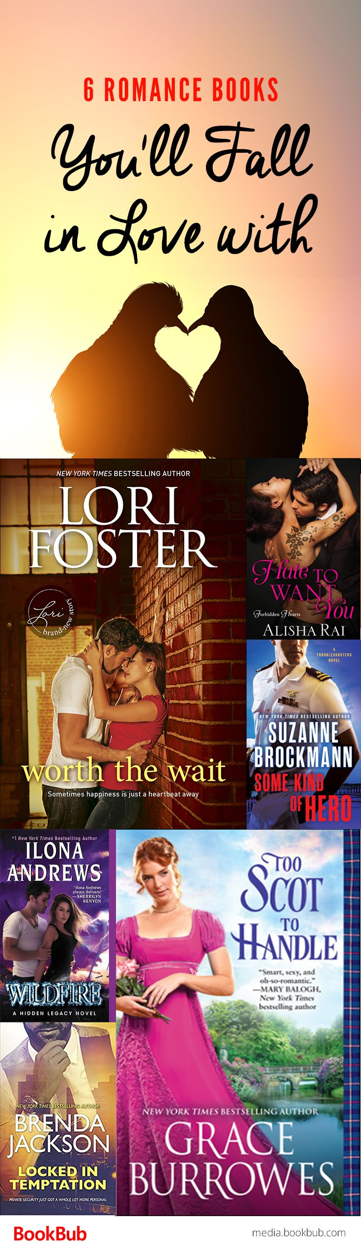 6 romance books worth reading, featuring a mix of steamy, hot romances with sweet contemporary romance books.