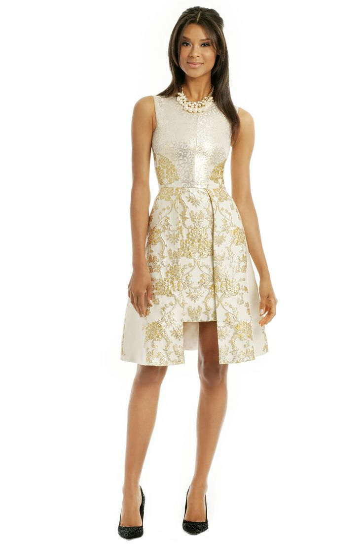 If I can get back to a size 8 by summer (which is my goal), I think this would work as well. It costs $275 to rent and could save me lots of moola on a dress I'll never wear again. I love the gold inlay and I think the style would be nice with my shape.