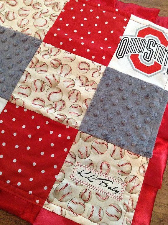 Ohio Buckeyes Sports Baseball Football Blanket by KLBaby on Etsy, $50.00
