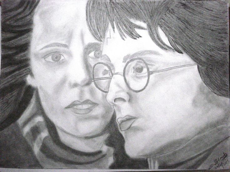 Harry & Hermione....Sketch by me.............