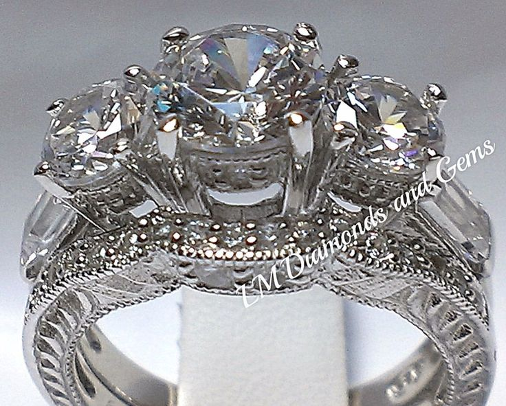 Our wedding set and bridal ring settings are solid 925 sterling silver - the best! The stones in our wedding sets are high-grade iridescent simulated diamonds and are equivalent to a natural, ideal cut diamond with bright, clear D-E color and flawless clarity, Our jewelry boasts diamond-like illuminated sparkle and fire! | eBay!