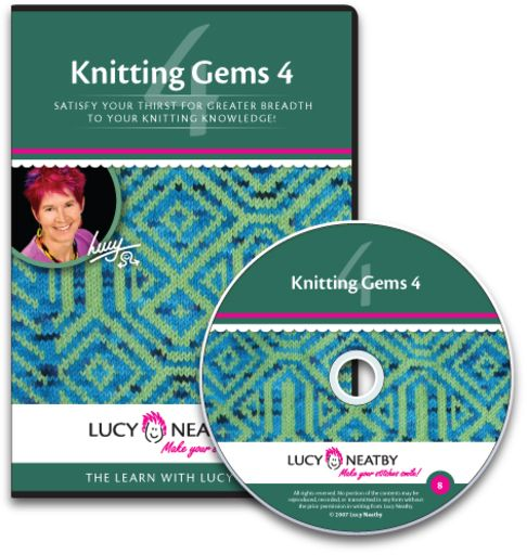 Knitting Gems 4  Topics include: a variety of slick cast-ons, methods for tubular edges, decorative twined chain and scallops, even more increases, fancy bind-offs and daring rescue techniques.