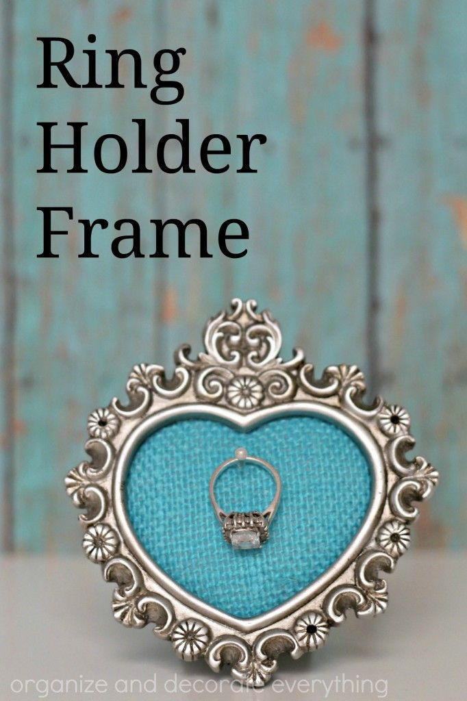 Ring Holder Frame Diy Crafts Pinterest Ring Holder Frame