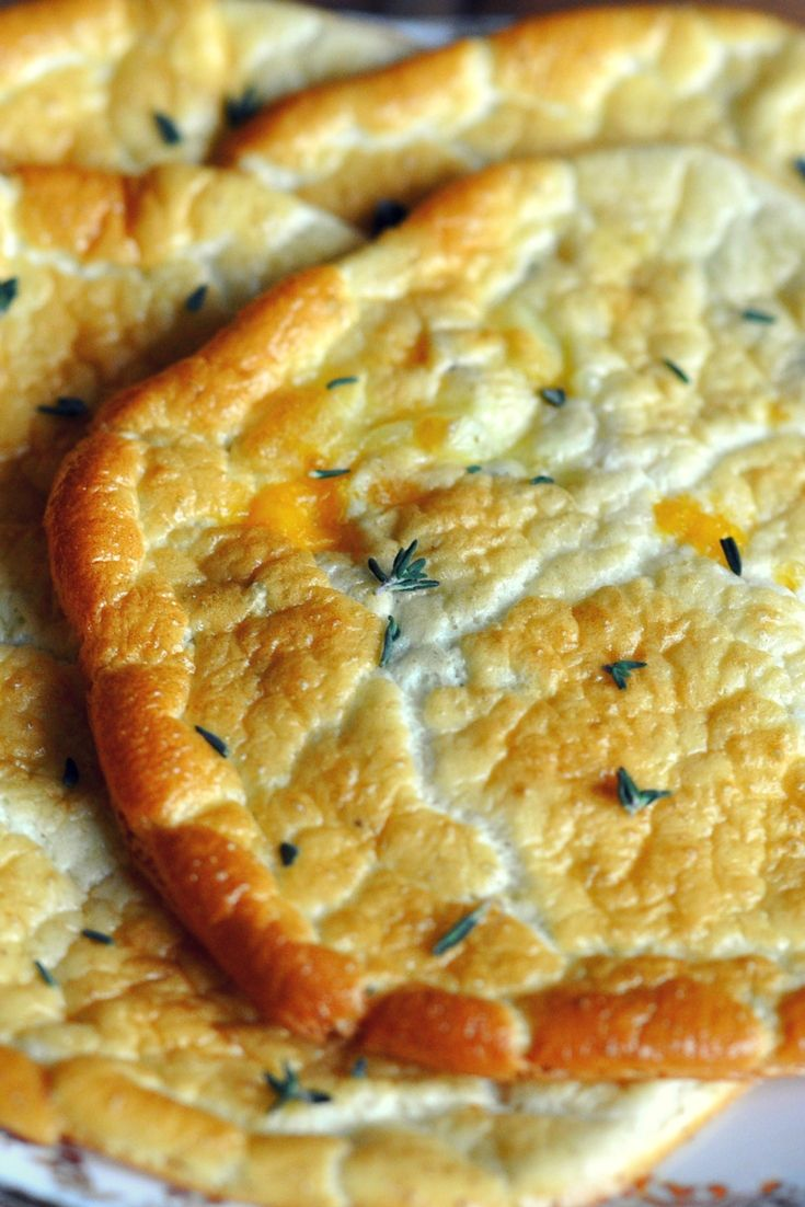 Savory No Carb Cloud Flat Bread  Ideal For Keto Diet, Egg Fast And Low