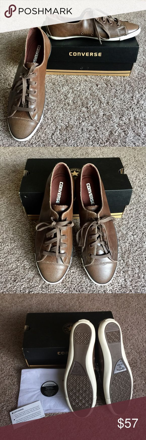 Nice Leather Converse all star shoe. Nice leather Converse shoe. Material leather, textile, canvas , suede, etc. Size 9 woman brown color. Brand new never used. With box MUST HAVE !!!! Converse Shoes Sneakers