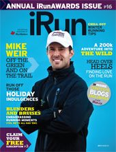 Cover photo of iRun Magazine | 2011 Issue 01  November 2010