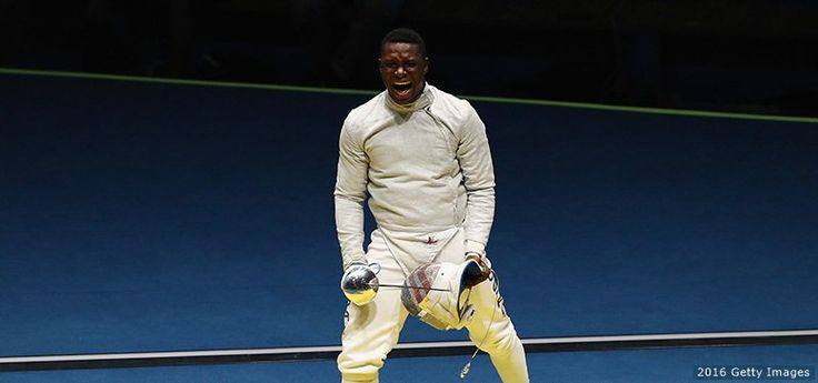 U.S. Olympic Team @TeamUSA  Aug 10 .@DarylDHomer took home a saber #Silver... and the rest is history! 🇺🇸  http://go.teamusa.org/2bhWoJ1