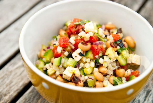 Salade de haricots à oeil noir, Fregola Sarda et autres bonnes choses