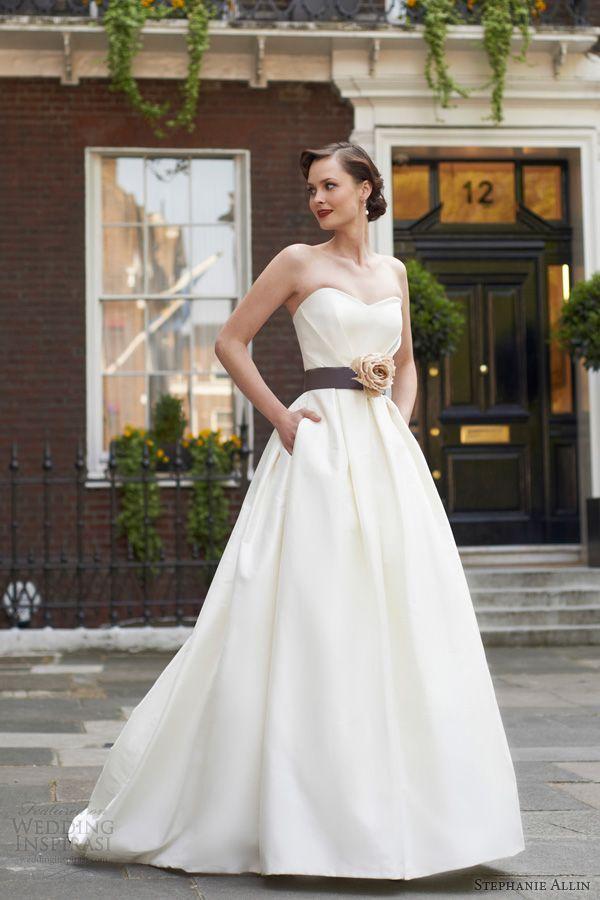 stephanie allin bridal 2014 julia strapless wedding dress