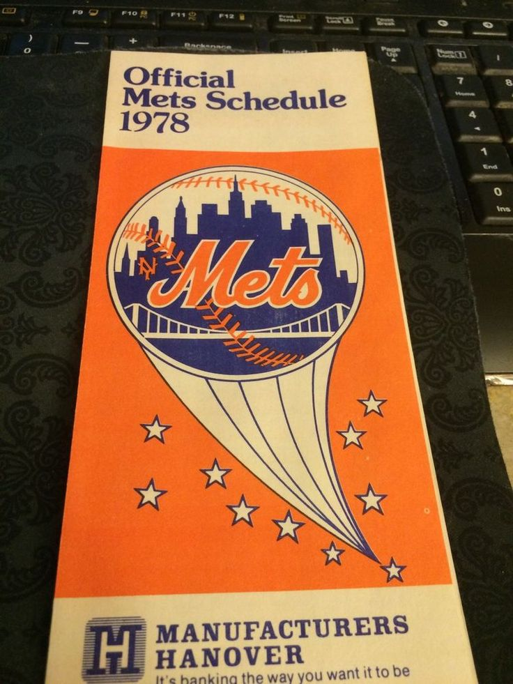 1978 new york mets #baseball schedule brochure from $1.05
