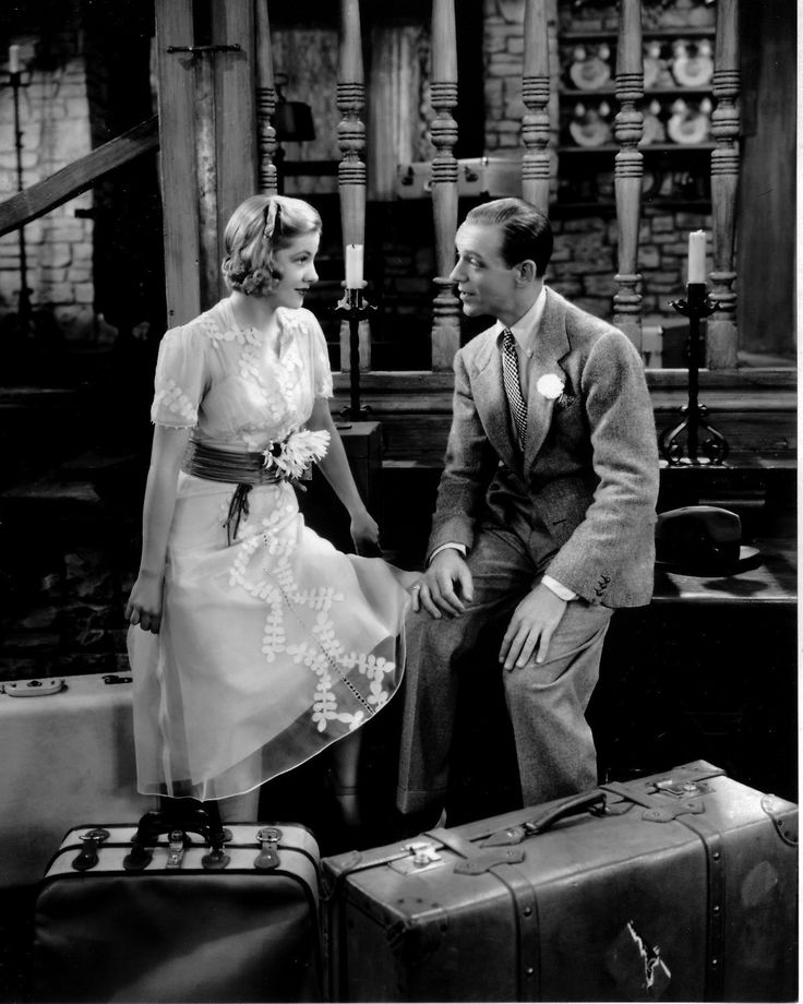 """Joan Fontaine + Fred Astaire In """"a Damsell In Distress"""