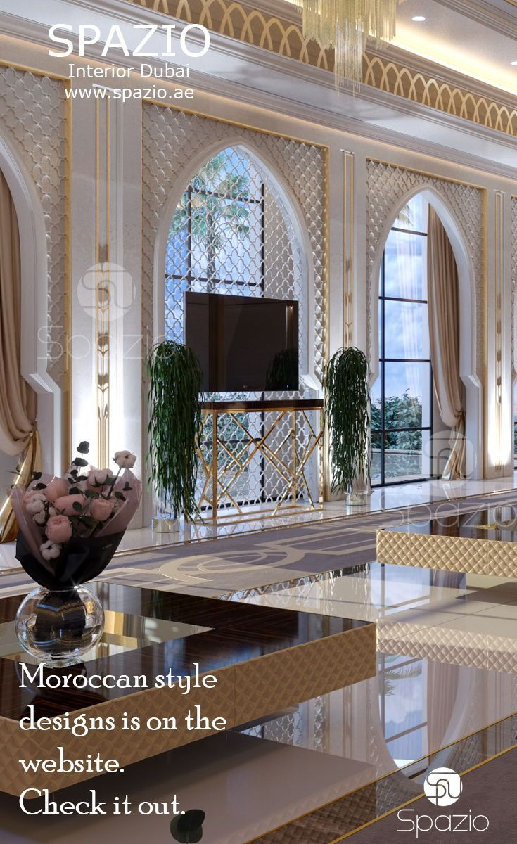 Modern Moroccan Majlis Interior Design In Luxury Style With Marble And Arches Order For Your From Spazio
