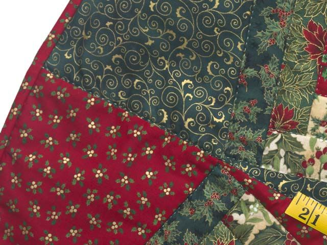 Lone Star Log Cabin Christmas Tree Skirt Superb Amish Quilt From Lancaster PA Ably Made By An Woman In Her Own Home