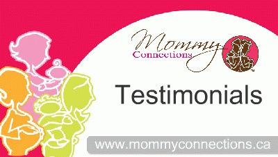"""I enjoyed meeting other moms and babies. Before Mommy Connections, I didn't know other moms in the area and now I have a group that is going to continue to get together. This has made my maternity leave even more enjoyable (and bearable). I learned quite a bit in many of the sessions, especially about introducing first foods, baby proofing and infant choking and CPR. I feel more aware of these topics. The fitness sessions were a great way to get some activity and bond with baby. - Toronto…"