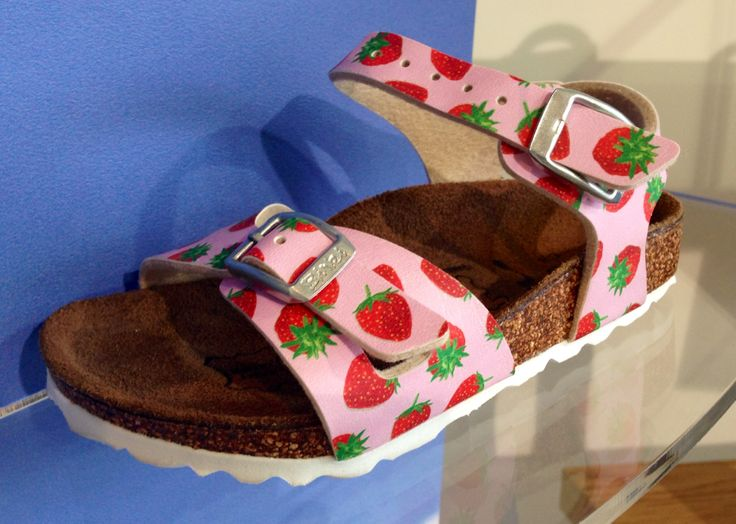 Gorgeous girls Birkenstocks! Cute strawberry design makes the perfect shoe for any girl!
