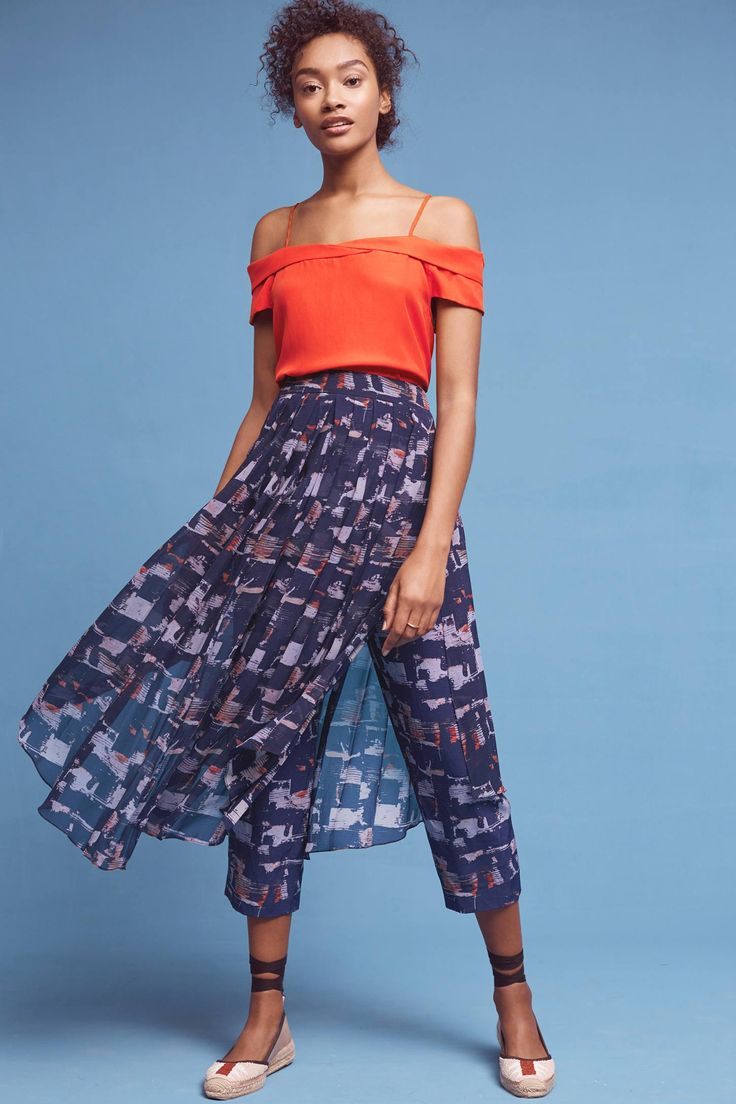 Slide View: 1: Skirted Waterfront Pants