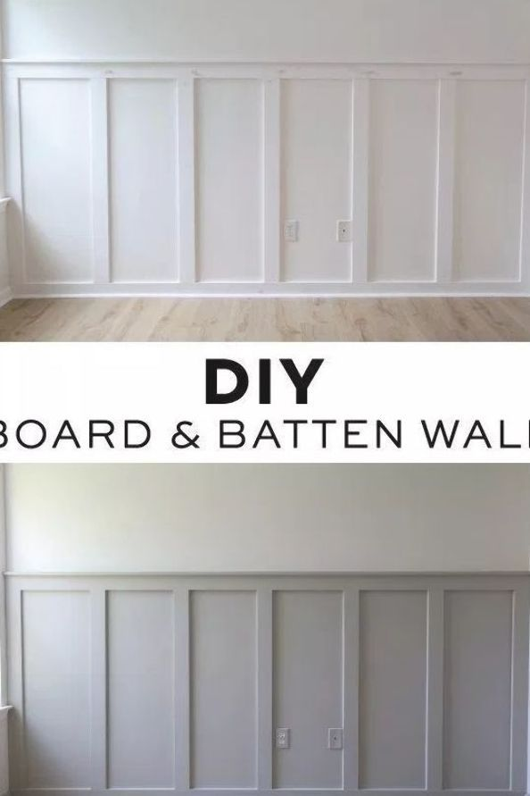 How To Easily Install A Diy Board And Batten Wall In Any Room This Budget Friendly And Simple Di In 2020 Wood Accent Wall Bedroom Accent Wall Bedroom Wood Accent Wall