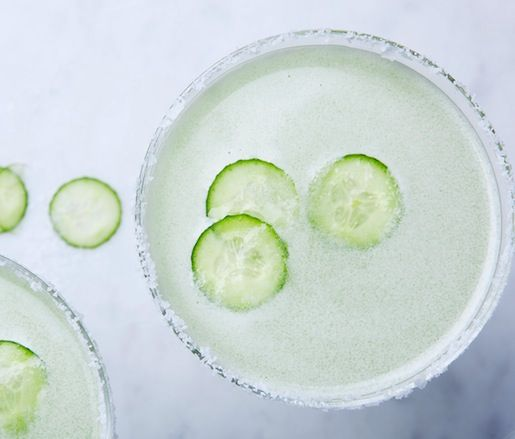 Video: Cucumber Margaritas | Our new favorite way to drink our veggies is by mixing up this ultra-refreshing cucumber margarita recipe from JBF Award winner Rick Bayless. Finely blending and straining the cucumber-and-tequila base yields a smooth and dangerously drinkable cocktail—so sip with caution!