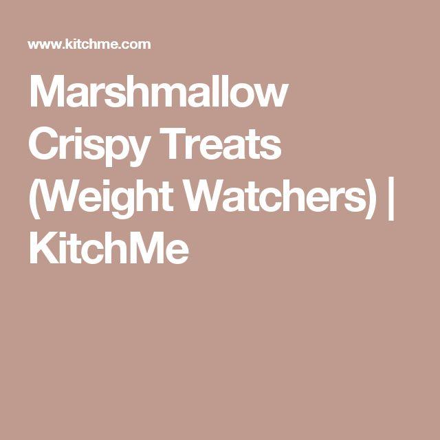 Marshmallow Crispy Treats (Weight Watchers) | KitchMe
